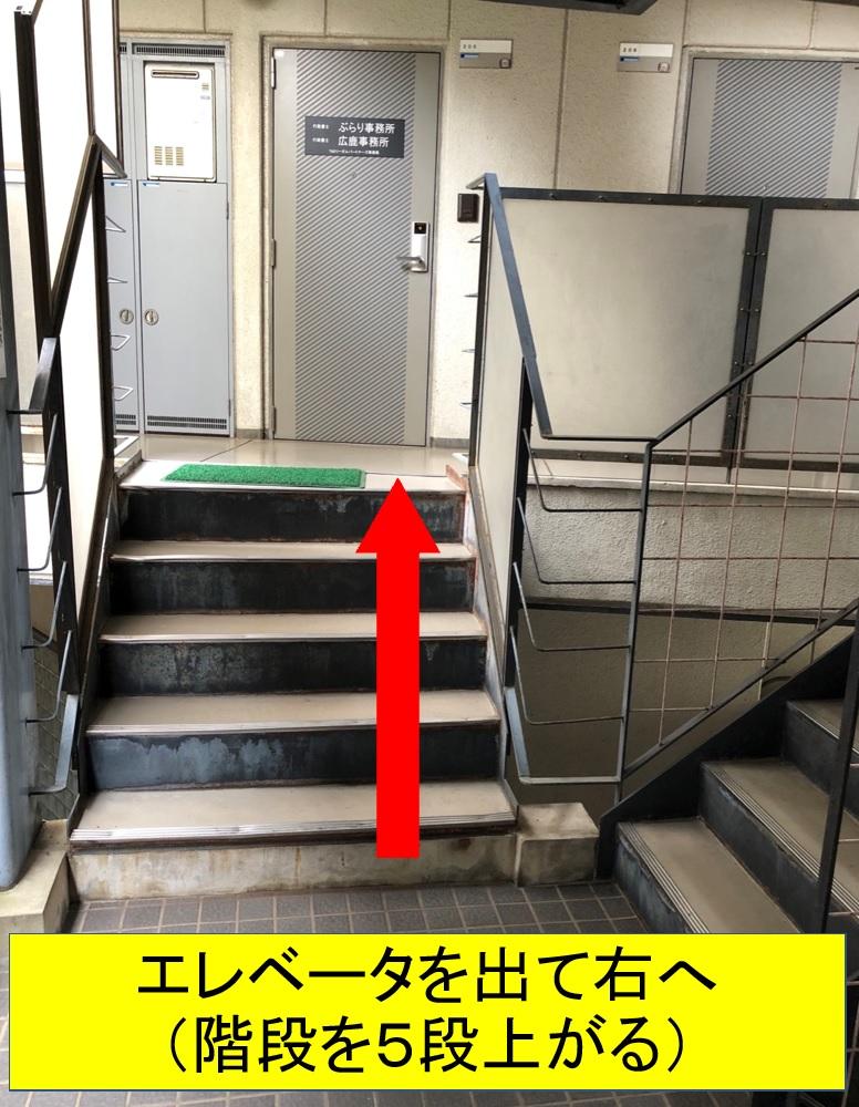エレベータを出て右へ